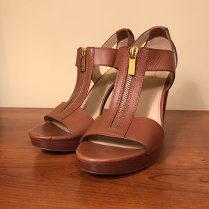 Michael Kors Berkeley Leather Zip Up High Heels